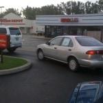 drive thru lane. use less gas