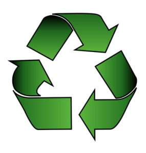 recycle-symbol-over-white-vector