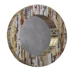 Eco friendly recycled magazine mirror