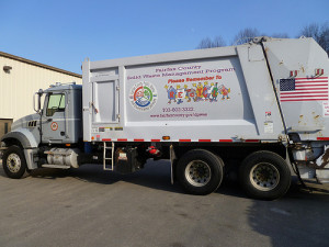 Trash and recycling truck -- plastic recycling industry