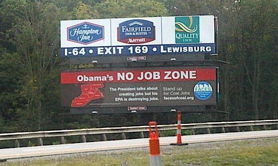 Obama coal billboard