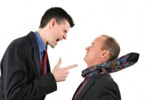 Men arguing. South Australia blackout