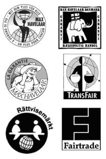 Old Fairtrade certification marks