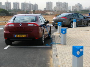 Electric cars recharging. corporate sustainability