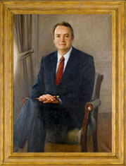 Official portrait of first EPA commissioner William Ruckelshaus