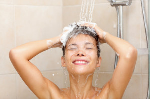 Shampoo lather -- uses of baking soda on skin