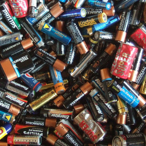 dead batteries. contaminated recycling