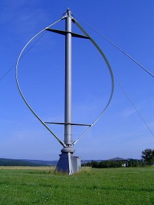 Darrieus wind power generator near Heroldstatt, Germany