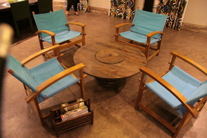 environmentally friendly furniture--recycled wood table
