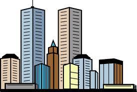 City skyline graphic