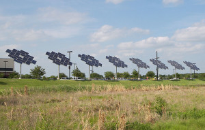 solar panel array -- renewable energy