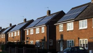 houses with home solar panels