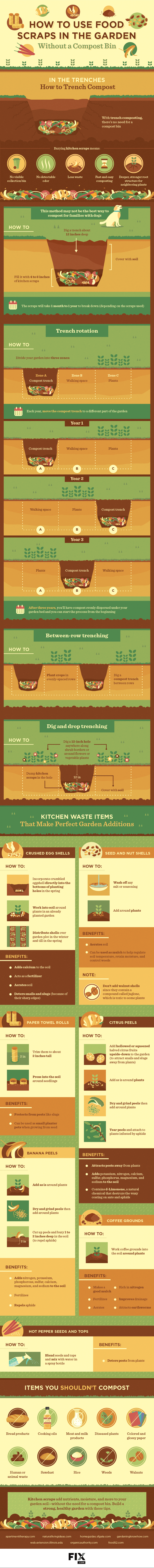 Trench composting infographic