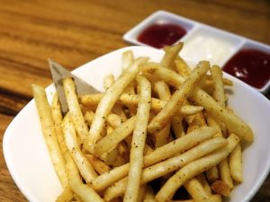 french fries, salty foods, sodium content