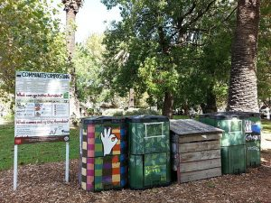food waste collection area, Melbourne, Australia