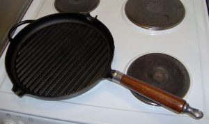 Grill pan -- using washing soda