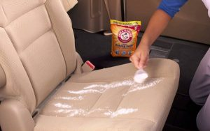 baking soda on car upholstery