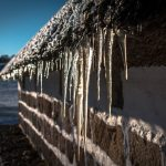 icicles. sustainable winter heating
