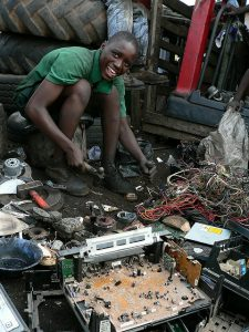 E-waste recycled in 3rd world. high tech trash