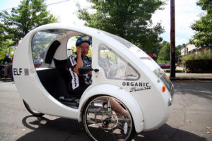 velomobine ELF solar tricycle
