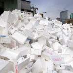 Styrofoam recycling, mountain of eps waste