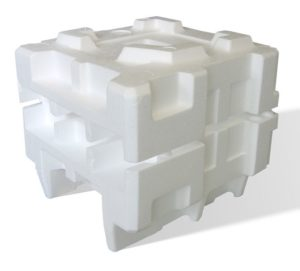 Styrofoam packaging. Styrofoam recycling. eps waste