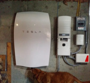 PowerWall installation -- Energy storage
