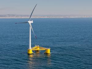 floating wind turbine. big oil wind industry