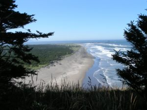 North Head, Washington. running out of sand