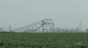 Downed transmission tower. feasibility of wind power