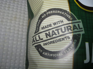 Food labels. All natural