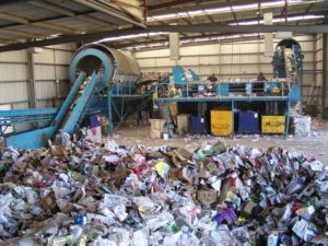Material recovery facility. recycling wrong