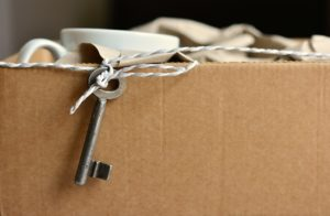 moving box. tips for decluttering your home